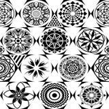 wektor bezszwowy wzoru Nowożytna elegancka tekstura z monochromatycznym trellis Wielostrzałowa geometryczna trójgraniasta siatka  Zdjęcie Stock