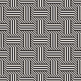 wektor bezszwowy wzoru Nowożytna Elegancka Przeplata linii tekstura Geometryczny Pasiasty ornament Obraz Stock