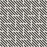 wektor bezszwowy wzoru Nowożytna Elegancka Przeplata linii tekstura Geometryczny Pasiasty ornament Obrazy Royalty Free