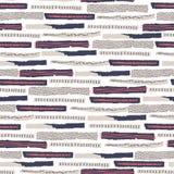 wektor bezszwowy wzoru Poszarpany papier dekorujący farby i atramentu punkty Różni paski z szorstkimi żebrować i szczerbić krawęd ilustracji