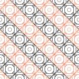 wektor bezszwowy wzoru Symetryczny geometryczny tło z czernią i place czerwoni na białym tle ilustracja wektor