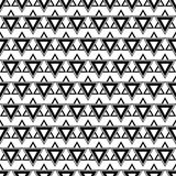wektor bezszwowy wzoru Symetryczny geometryczny tło z trójbokami w czarny i biały kolorach ilustracja wektor