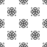 wektor bezszwowy wzoru Wielostrzałowy geometryczny czarny white Fotografia Stock