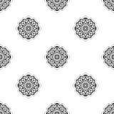 wektor bezszwowy wzoru Wielostrzałowy geometryczny czarny white Zdjęcie Stock
