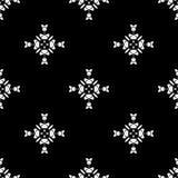 wektor bezszwowy wzoru Wielostrzałowy geometryczny czarny white Zdjęcie Royalty Free