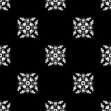 wektor bezszwowy wzoru Wielostrzałowy geometryczny czarny white Zdjęcia Stock