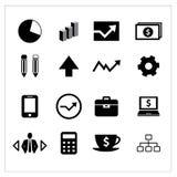 Wektor biznesowe ikony ustawiać Zdjęcia Stock