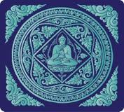 Wektor Buddha tło Obrazy Royalty Free