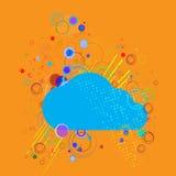 Wektor chmura na abstrakcjonistycznym tle Obraz Royalty Free