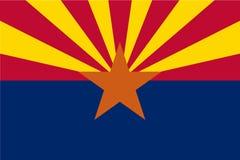 Wektor chorągwiana ilustracja Arizona, Stany Zjednoczone Ameryka ilustracji