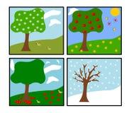 wektor cztery pory roku Ilustracja Wektor