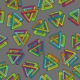 Wektor Deseniowy 80s Geometryczny Bezszwowy abstrakcjonistyczny tło Retro Memphis stylu 1980s Zdjęcia Stock