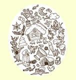 Wektor doodles baśniowych charaktery Obrazy Stock
