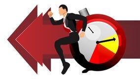 Wektor dorosli mężczyźni biega po czasu ilustracyjna ewidencyjnego biznesu informacji grafika EPS10 royalty ilustracja