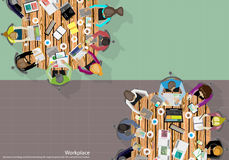 Wektor drużyny pracy biznesmena Brainstorming analiza marketingowy plan Fotografia Stock