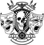 Wektor - dwa maski i głowy kościec royalty ilustracja