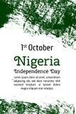 Wektor flaga Nigeria Wektorowa ilustracja dla Nigeryjskiego święta państwowego Zdjęcia Royalty Free