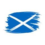 Wektor flaga Szkocja Wektorowa ilustracja dla Szkocja święta państwowego Szkocka flaga w modnym grunge stylu Projekta szablon dla Zdjęcie Stock