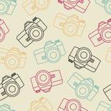 Wektor fotografii kreskowa bezszwowa kamera z żaluzją Zdjęcie Royalty Free
