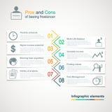 Wektor freelance infographics Obrazy Stock