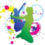 wektor grafiki kolorowe taniec Royalty Ilustracja