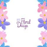 Wektor granica z niezapominajkowymi kwiatami Obraz Royalty Free