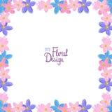 Wektor granica z niezapominajkowymi kwiatami Zdjęcie Royalty Free