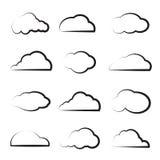Wektor grupa chmury Zdjęcie Stock