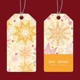 Wektor gwiazd pionowo lampasa ramy ciepły wzór Zdjęcie Royalty Free