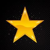 Wektor gwiazdy rama Olśniewający okręgu sztandar Odizolowywający na czarnym przejrzystym tle również zwrócić corel ilustracji wek Zdjęcie Stock