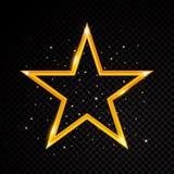 Wektor gwiazdy rama Olśniewający okręgu sztandar Odizolowywający na czarnym przejrzystym tle również zwrócić corel ilustracji wek Obraz Stock