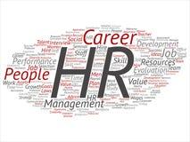 Wektor hr lub dział zasobów ludzkich kariery zarządzanie ilustracja wektor