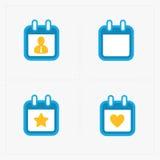 Wektor Kalendarzowe ikony na bielu Obraz Royalty Free