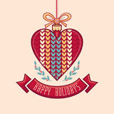 wektor karciany bożego narodzenia powitanie Ornament dekoruje ilustracji