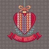 wektor karciany bożego narodzenia powitanie Ornament dekoruje royalty ilustracja