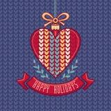 wektor karciany bożego narodzenia powitanie Ornament dekoruje ilustracja wektor