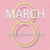 Wektor karta 8 Marzec Międzynarodowy kobieta dzień również zwrócić corel ilustracji wektora obraz stock