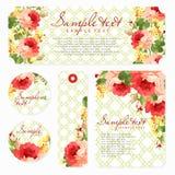 Wektor karta z Pięknymi różami Obraz Royalty Free