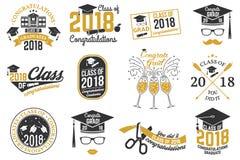 Wektor klasa 2018 odznaka Zdjęcie Stock