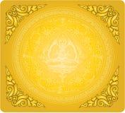 Wektor konturu Buddha tło Zdjęcia Stock