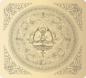Wektor konturu Buddha tło Obrazy Royalty Free