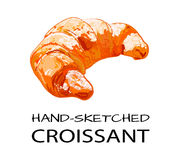 WEKTOR kreślił croissant Fotografia Stock