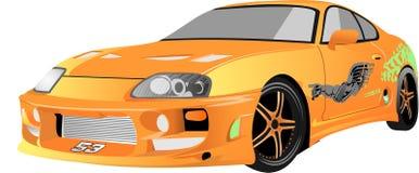 Wektor - kreskówka samochód Toyota Supra ilustracji