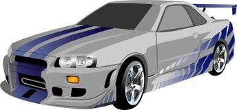 Wektor - kreskówki Nissan samochodowa linia horyzontu GTR royalty ilustracja