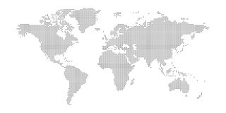 Wektor kropkował światową mapę odizolowywającą na białym tle royalty ilustracja