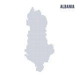 Wektor kropkował mapę Albania odizolowywał na białym tle royalty ilustracja