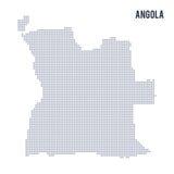 Wektor kropkował mapę Angola odizolowywał na białym tle Zdjęcie Stock