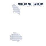 Wektor kropkował mapę Antigua i Barbuda odizolowywający na białym tle Obrazy Royalty Free