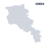 Wektor kropkował mapę Armenia odizolowywał na białym tle Ilustracji