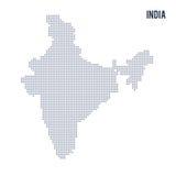Wektor kropkował mapę India odizolowywał na białym tle Zdjęcia Stock